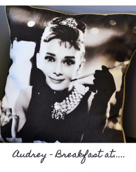Audrey Hepburn Cushion - Breakfast At ...