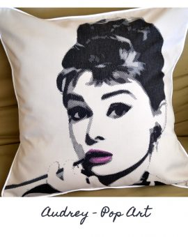 Audrey Hepburn Cushion - Pop Art