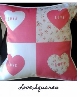 Love Squares Cushion