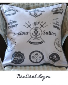 Nautical Logos Cushion