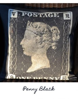 Penny Black Cushion