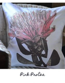 Pink Protea Cushion
