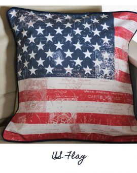 US Flag Vintage Cushion