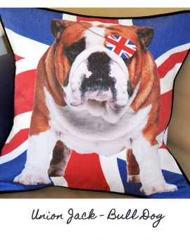 Union Jack - Bull Dog Cushion