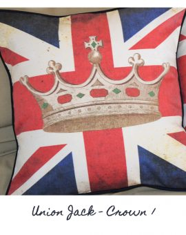 Union Jack Crown Cushion 1