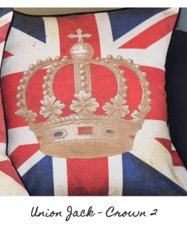 Union Jack Crown Cushion 2