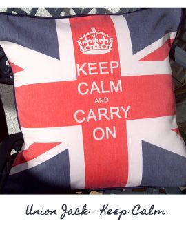Union Jack - Keep Calm Cushion