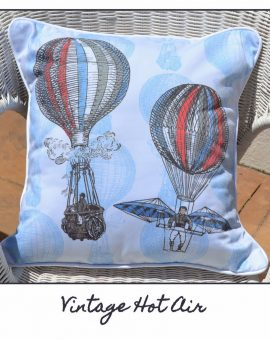 Vintage Hot Air Balloon Cushion