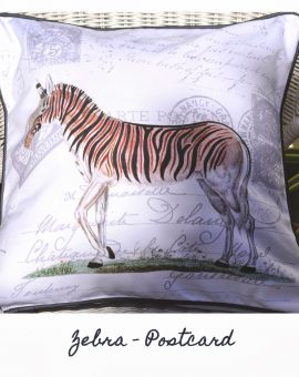 Zebra Postcard Cushion