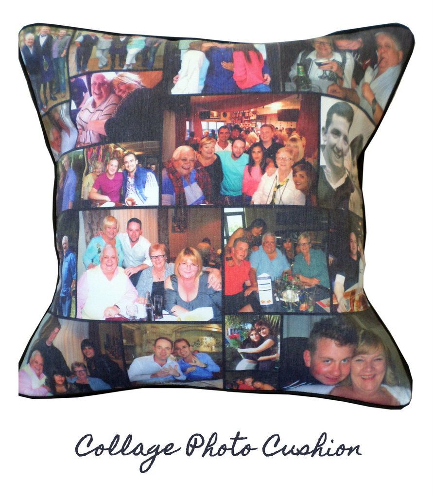 collage photo cushion cushi